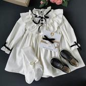 Вельветовое нарядное платье +колготки и повязки на голову в подарок