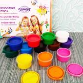 Пальчиковые краски 12 цветов   Пальчикові фарби 12 кольорів   Набір для творчості  