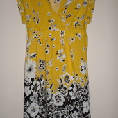 яркое натуральное платье сост нового 16 евр.