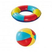 надувной мяч и круг