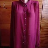 Бордовая рубашка (пог-69 см)