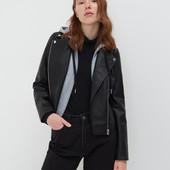 женская стильная куртка в байкер стиле с имитацией толстовки от sinsay. Маломерит