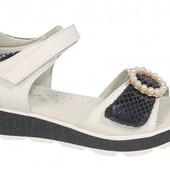 Обалденные босоножки Tom.m для девочек открытые белые, размер 33