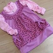 Красивое платье -туничка из трикотажа