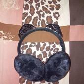 Обруч-наушники тёплый с кошачими ушками
