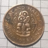 Монета Новой Зеландии пол пенри 1958
