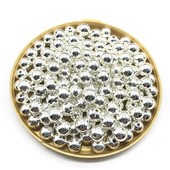 Бусинки серебрянные 8мм. Лот 30 шт