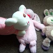 3 великі гарні зайці м'які іграшки 60 см