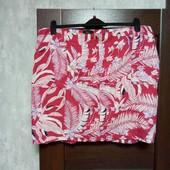 Фирменная красивая летняя юбка из льна и вискозы в состоянии новой вещи р.20-24