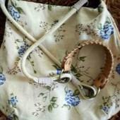 Фирменная сумочка, натуральный  лен