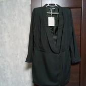 Фирменный новый красивый вискозный удлиненный пиджак р.12-14(40евро)