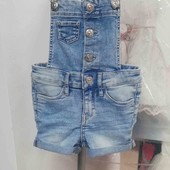 Очень крутой джинсовый комбез &Denim 98 2-3года.Смотрим замеры!