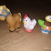 Little people от fisher price три фигурки в лоте