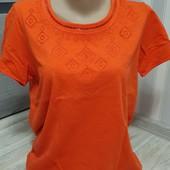 Яркая футболка Tchibo р.36/38(44)см.замеры