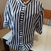 Новая.Шикарная блуза большого размера, натуральная