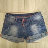 Джинсовые шорты яркие модные
