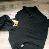 Черная укороченная кофточка для девочки размер 122