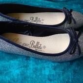 Туфли/балетки серебро, 21 см стелька