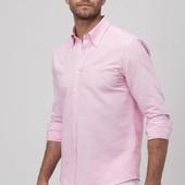 Буде багато! Нова чоловіча! сорочка Next, 16(41 см), колір рожевий, фото не передає