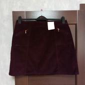 Фирменная новая красивая коттоновая юбка с замочками р.14-16