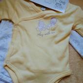 Комплект бодиков для новорожденного. ovs италия