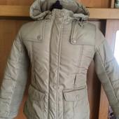 Куртка, холодная весна, внутри флис, 8-9 лет 134 см.Nature sports. состояние отличное