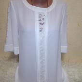 Красивая белая блузочка 6/34 размера.