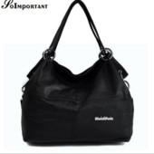 Женская кожаная сумка WeidiPolo черная