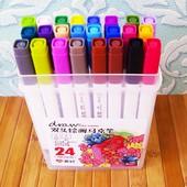 Скетч маркер Sketch Marker двусторонние Набор маркеров для скетчинга 24 шт