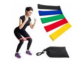 Ленты сопротивления Loop Bands для фитнеса.набор- 5 шт с чехлом