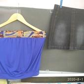 Лот 2 штуки 36/38 роз. Юбка джинсова+блуза