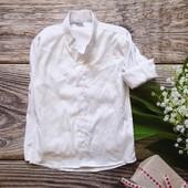 Новая! рубашка школьная белая для мальчика р.8 рост 122-130 рукав 46,5см