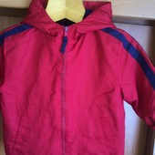 Куртка. ветровка, внутри флис, размер 2 года 92 см, George. состояние отличное