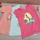 Германия!!! Коттоновая футболка, футболки для девочки! 98/104!