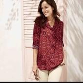 Стильная стрейчевая вискозная блуза Esmara S evro 36+6(42)
