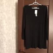 Фирменный новый трикотажный вискозный туничка-свитерок р.12:14