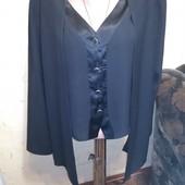 Черная блуза обманка 16 размера.