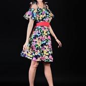 Стильне літнє плаття з воланами якість шикарна