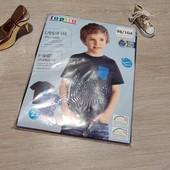 Германия! Коттоновая футболка с динозавром, для мальчика! В лоте 2 шт! 98/104!
