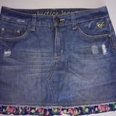 Брендовая джинсовая юбка с трусиками