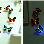 Міні метелик - нічник, світлодіодна 7*5,5см. В лоті 1 штука
