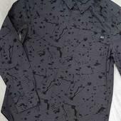 Шикарнейшая стильная рубашка H&M 100% хлопок на р.134