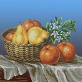 """Велика гарна схема для вишивки """"Натюрморт з апельсинами"""" формат А 3"""