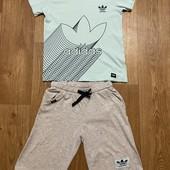 Костюм футболка+ бриджи 8—9 лет Adidas Турция