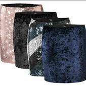 Esmara черная бархатная юбка М 42