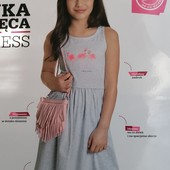 Блиц-цена! классное платье Фламинго YoungStyle! На 11 лет, рост 146! из Польши! замеры! хлопок!