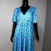 Качество! Фактурное платье от британского бренда Peacocks в новом состоянии, р. 16+-