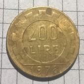 Монета Италии 200 лир 1978