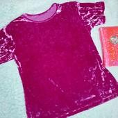 Обалденная футболка из мраморного бархата,на девочку от 13 лет