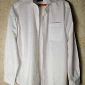 ЛоВиЛоТы! белоснежная мужская рубашка Marks&Spencer
